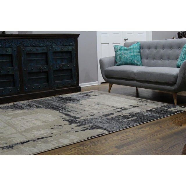 Contemporary Brown Abstract Rug - 8' X 10'7'' - Image 6 of 6