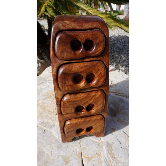 Hand Sculpted Wood Jewelry/Stash Box For Sale - Image 9 of 9