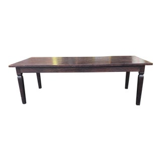 Large Hand-Hewn Top Reproduction Tavern Style Farmhouse Dining Room Table 42 X 96 For Sale