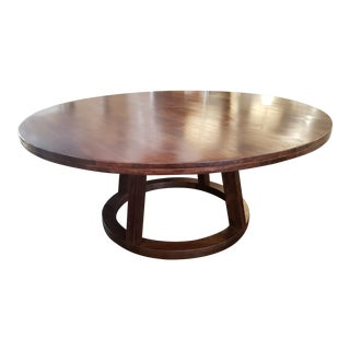 Modern Alder & Tweed Mendocino Mango Wood Round Dining Table For Sale