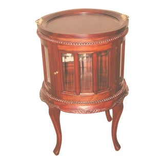 French Mahogany Chocolate Cabinet with Removable Tray For Sale