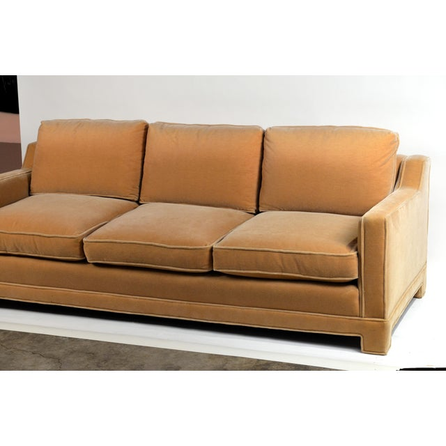 Jean-Michel Frank Impeccable Mohair Designer Sofa in the Style of Jean-Michel Frank For Sale - Image 4 of 10