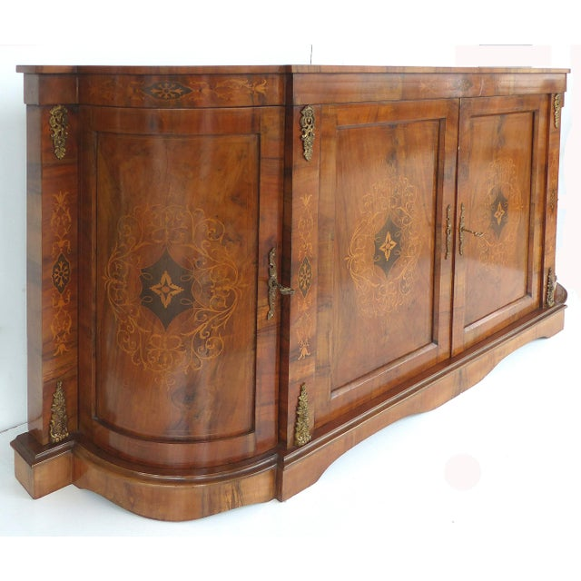 Italian Inlaid & Bronze Mount Buffet - Image 3 of 11