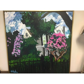 """Historic Garden District Home Oil Painting, """"Myrtles Fantasy"""" Preview"""