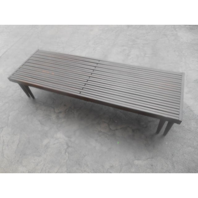 Wood Mid-Century John Keal for Brown-Saltman Expandable Slat Bench For Sale - Image 7 of 8