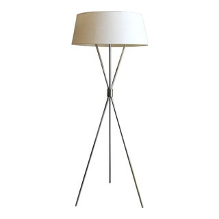 Mid Century Modern t.h Robsjohn Gibbings for Hansen Lighting Co. Tripod Floor Lamp For Sale