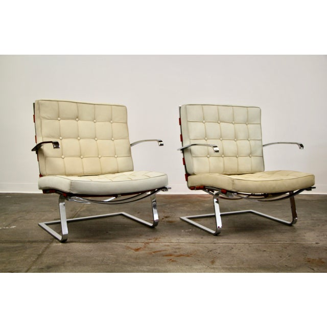 Bauhaus Mies Van Der Rohe and Lilly Reich Tugendhat Chairs - a Pair For Sale - Image 3 of 13
