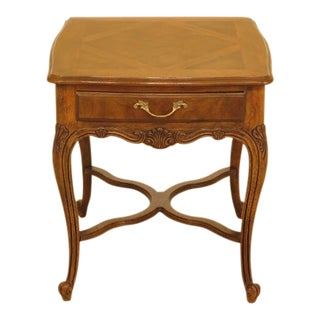 1990s Vintage Drexel Heritage Walnut Occasional Table For Sale