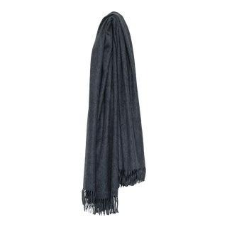 Arran Plain Cashmere Throw, Dark Gray For Sale