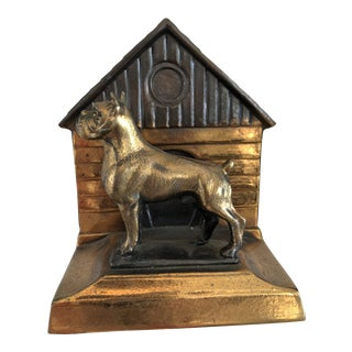 Art Deco Boxer Dog Bookends For Sale