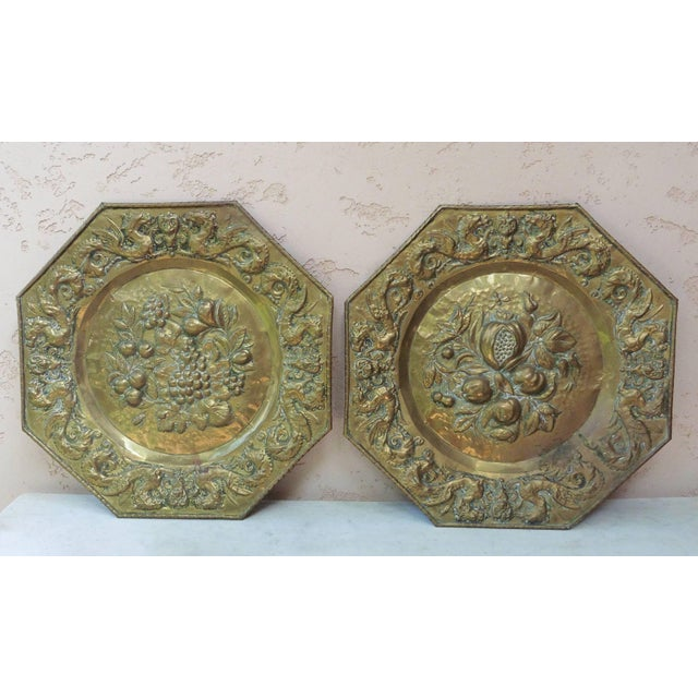 French 19th Century French Brass Fruits Platter For Sale - Image 3 of 6