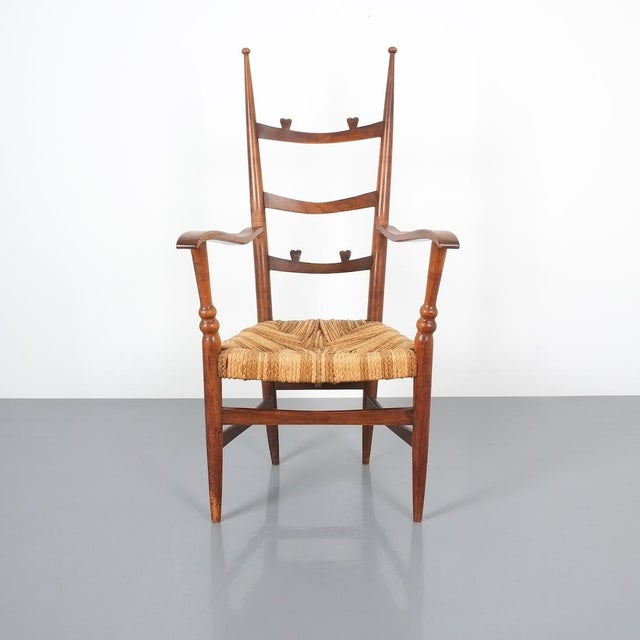 Armchair Attributed to Paolo Buffa, Possible Made by Marelli, Circa 1948 For Sale - Image 13 of 13