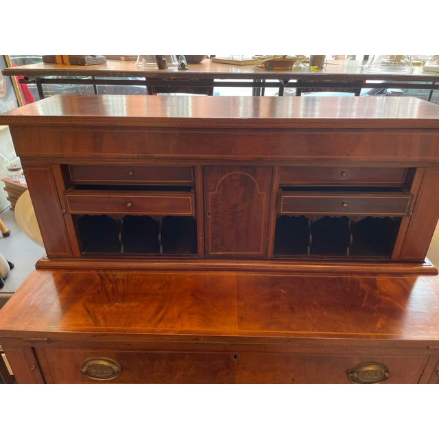 Early 19th Century 19th Century George Hepplewhite Tambour Desk For Sale - Image 5 of 13