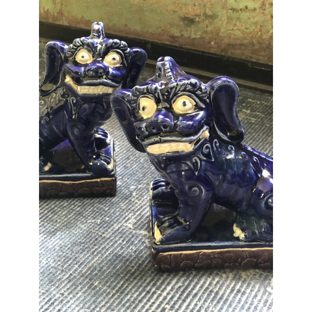 1960s Vintage Foo Dog Statues - a Pair For Sale - Image 5 of 8