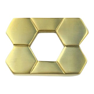 Christopher Pull Satin Brass - Small For Sale