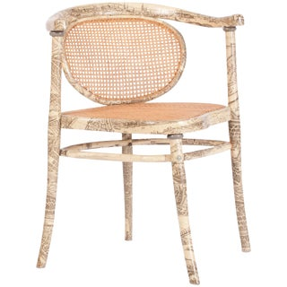 Fornasetti Style Early Thonet Chair For Sale