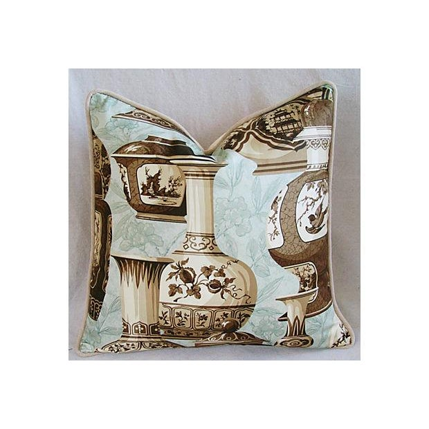 Asian Custom Braemore Chinoiserie Vase Pillows - A Pair For Sale - Image 3 of 10