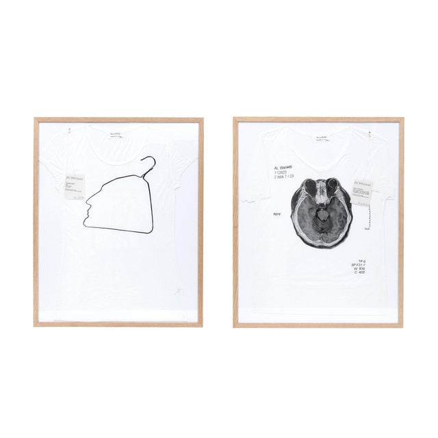 Contemporary Abstract Limited Edition Framed T Shirts by Ai Weiwei - a Pair For Sale - Image 13 of 13