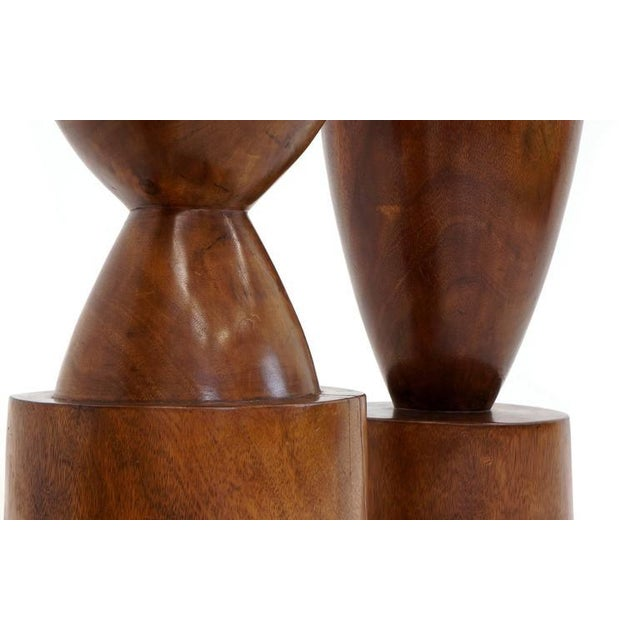 Set of Four 1960s Barstools of Solid Walnut and Exotic Woods For Sale - Image 10 of 10