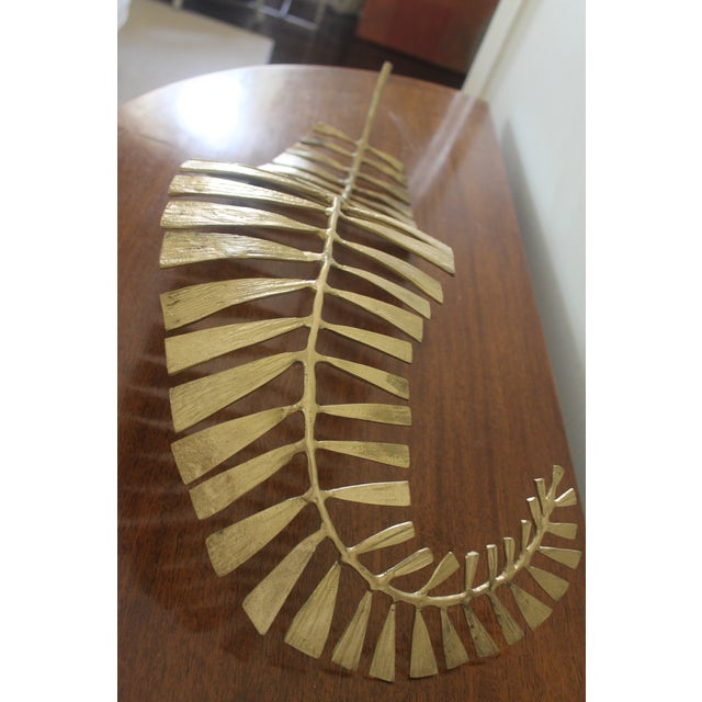 Interlude Home Brass Fern Leaf Tray For Sale In New Orleans - Image 6 of 9