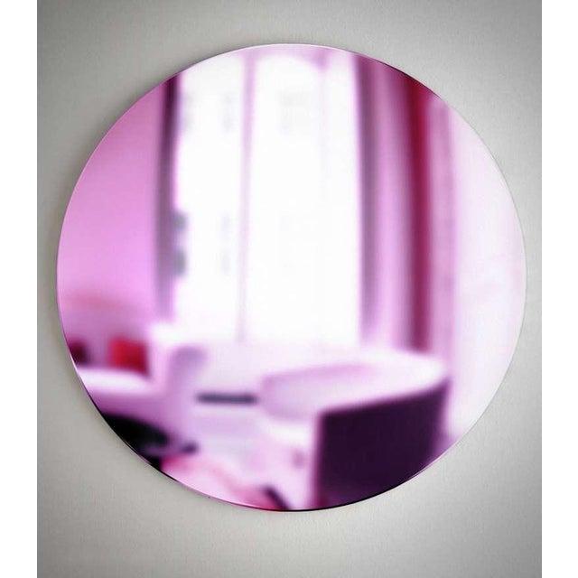 "Custom made round mirror "" Pink Rosa "". Custom sizes available."