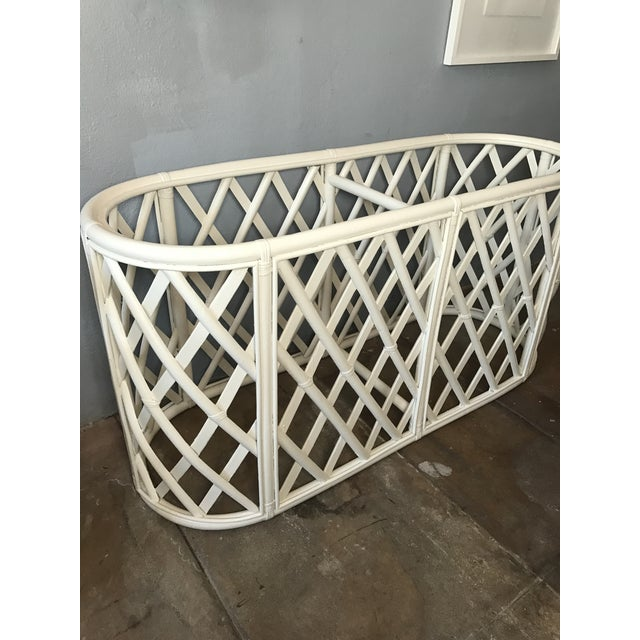 Bamboo Oval Tables - A Pair - Image 6 of 9