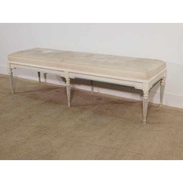 Baker Furniture Company French Louis XVI End of Bed Fluted Leg Bench For Sale In South Bend - Image 6 of 13