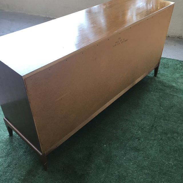 Lane Mid Century 6 Drawer Walnut Dresser For Sale In Los Angeles - Image 6 of 7