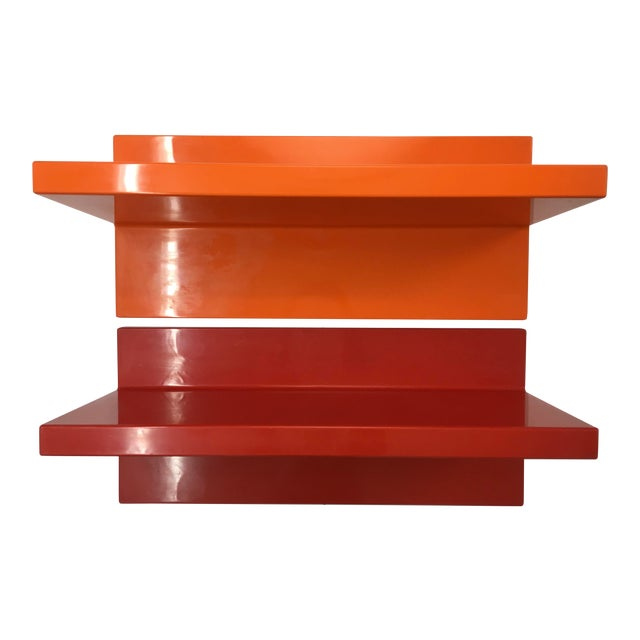 1970s Vintage Wall-Mounted Plastic Shelves by Marcello Siard for Kartell - a Pair For Sale