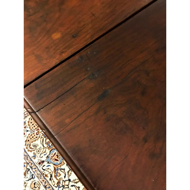 18th Century Chippendale Walnut Drop Leaf Table For Sale - Image 4 of 12