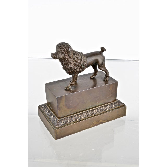 Bronze Poodle Inkwell, France 19th Century For Sale - Image 12 of 12