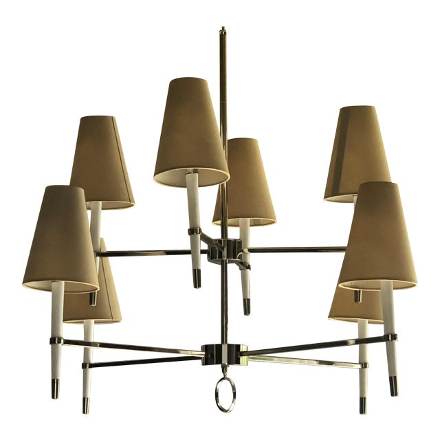 Jonathan Adler Ventana Two-Tier Chandelier For Sale