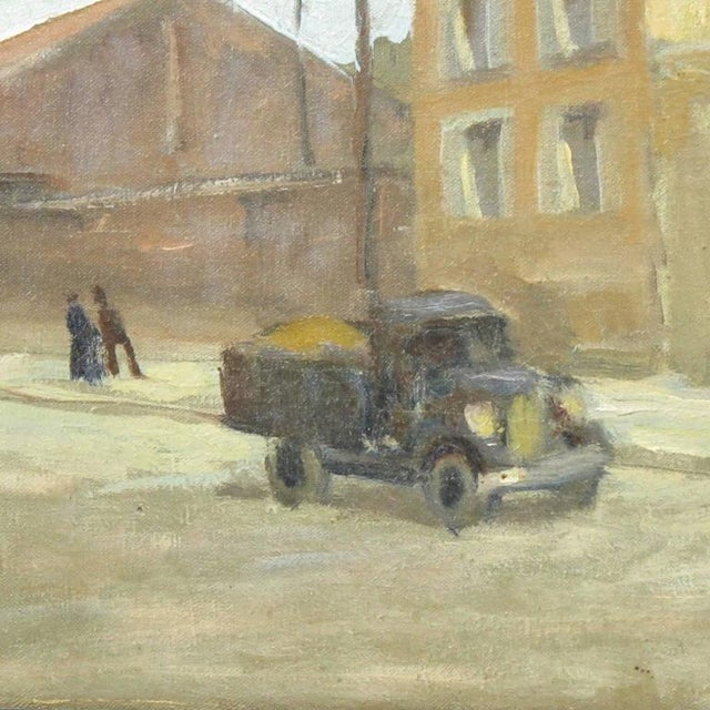 Early 20th Century French Street Scene Oil Painting Signed R. Gori - Image 4 of 8