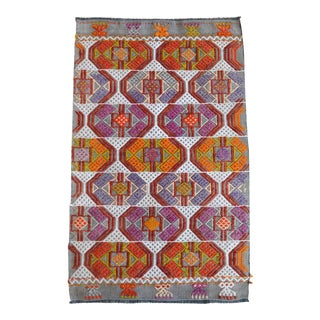 Hand-Made Braided Turkish Small Rug Jajim Kilim - 1′7″ × 2′6″ For Sale