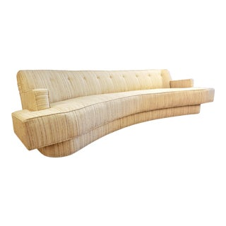 Mid-Century Modern Harvey Probber Custom Curved Sofa For Sale