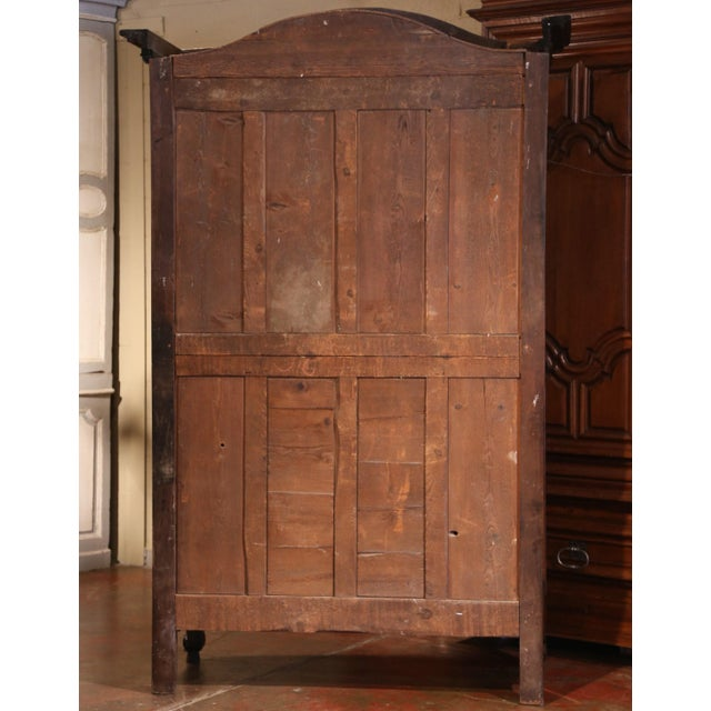 Exceptional 18th Century French Carved Walnut Wedding Armoire from Provence For Sale - Image 10 of 11