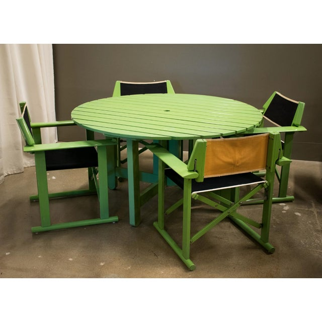 Green Fratelli Reguitti Patio Set, Italy 1970 For Sale - Image 8 of 9