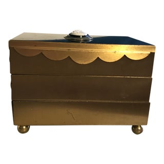 Mid-Century Brass Expandable Jewelry Box
