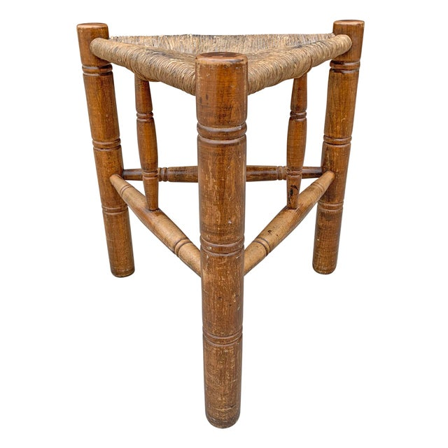 Early 20th Century Vintage Three-Legged Stool For Sale - Image 4 of 9