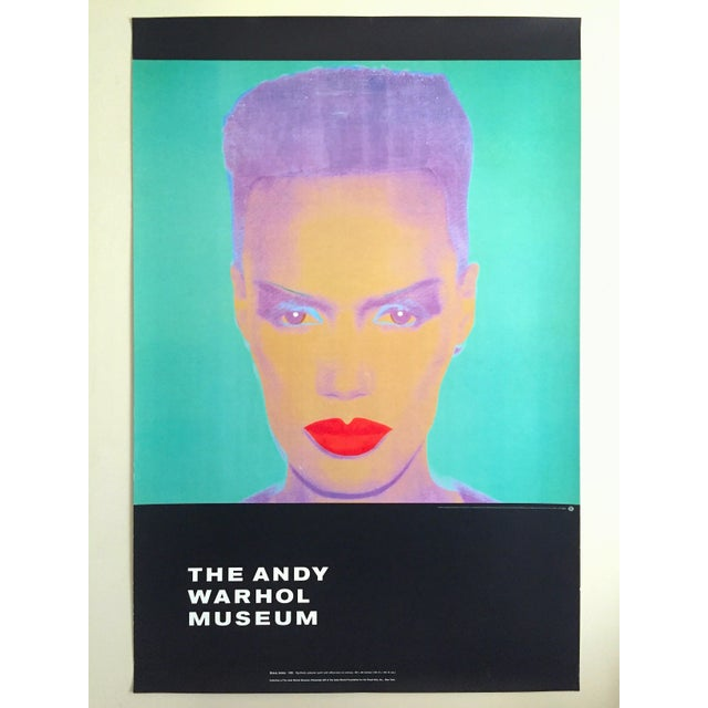 "Andy Warhol Museum Rare Lmtd Edtn Lithograph Print Monumental Pop Art Poster "" Grace Jones "" 1986 For Sale - Image 13 of 13"