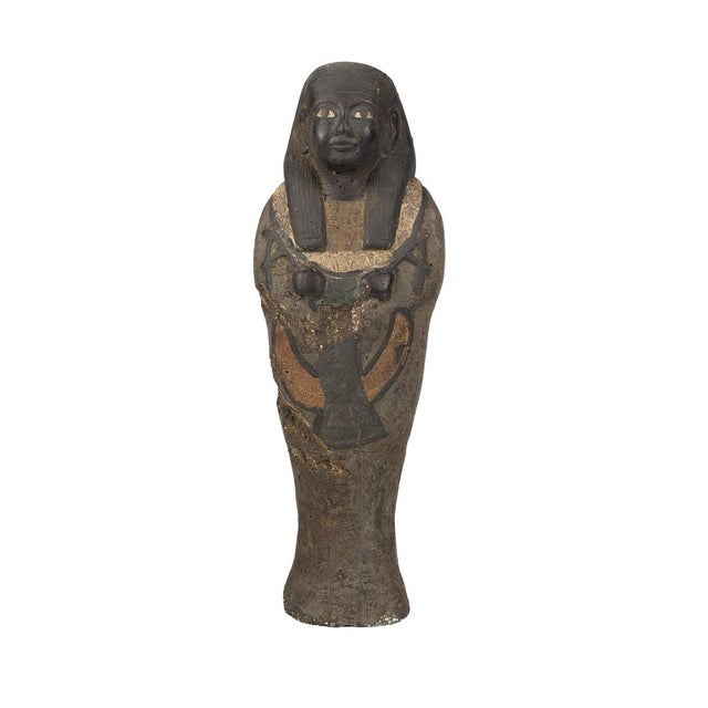 Egyptian Revival Antique Egyptian Carved Stone Pharaoh Figurine For Sale - Image 3 of 9