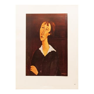 "1947 A. Modigliani, ""Woman in the Black Dress"" Original Parisian Lithograph For Sale"