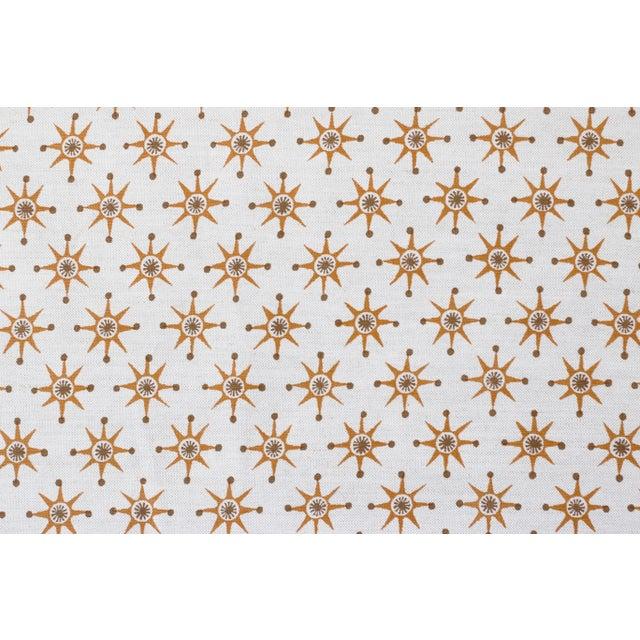 Transitional Virginia Kraft Prinz Fabric, Sample in Caramel/Bark For Sale - Image 3 of 3
