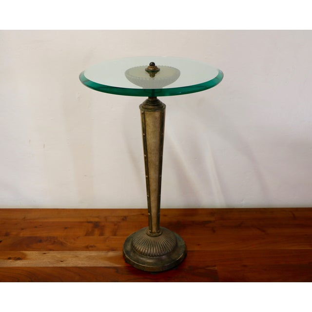 Wood & Metal Side Table - Image 8 of 8