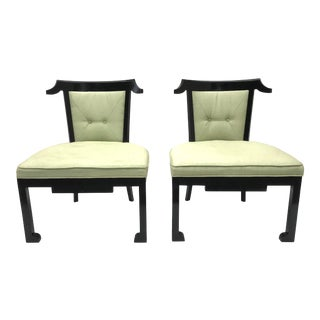 Mid Century Italian Asian Modern Chairs- a Pair For Sale