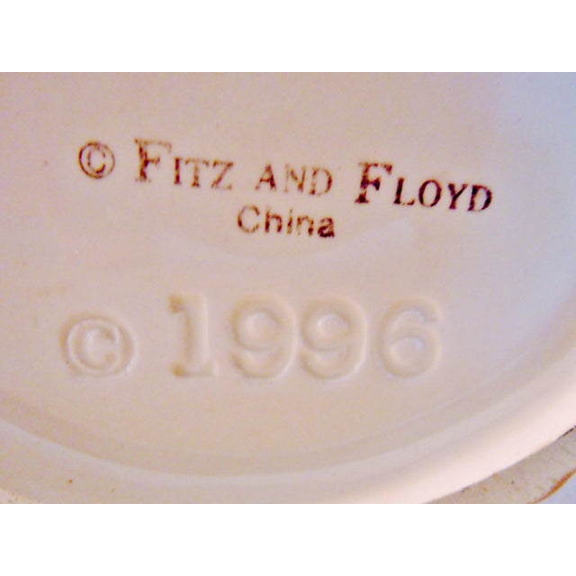 Fitz & Floyd Vegetable Fruit Basket Canisters - A Pair For Sale - Image 6 of 8