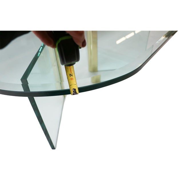 Mid Century Leon Rosen for Pace Glass Coffee Table - Image 4 of 10