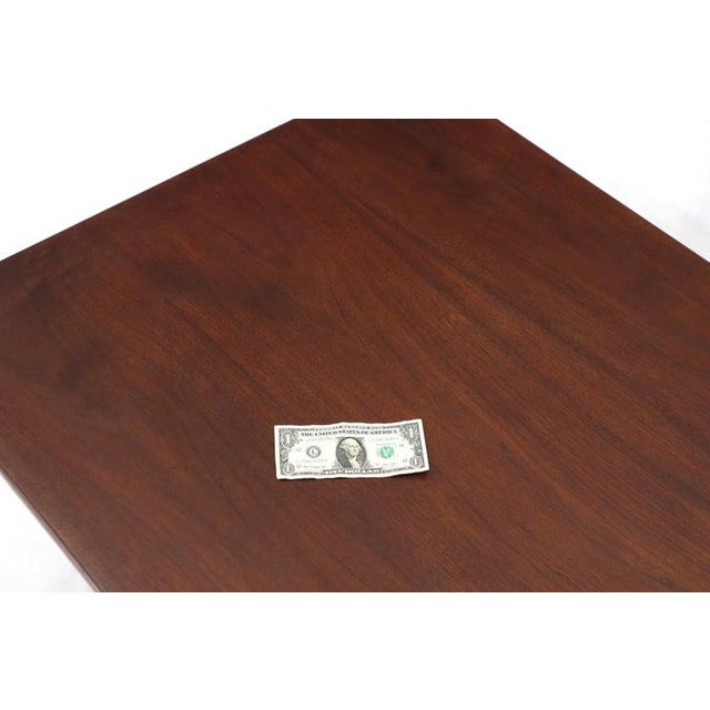 Wood Jens Risom Square Occasional Coffee Side Table Oiled Walnut For Sale - Image 7 of 12