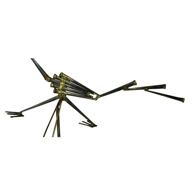 Mid Century Modern Kinetic Sculpture of a Road Runner Circa 1950s For Sale - Image 4 of 7