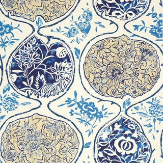 Sample - Schumacher Katsugi Wallpaper in Blues For Sale